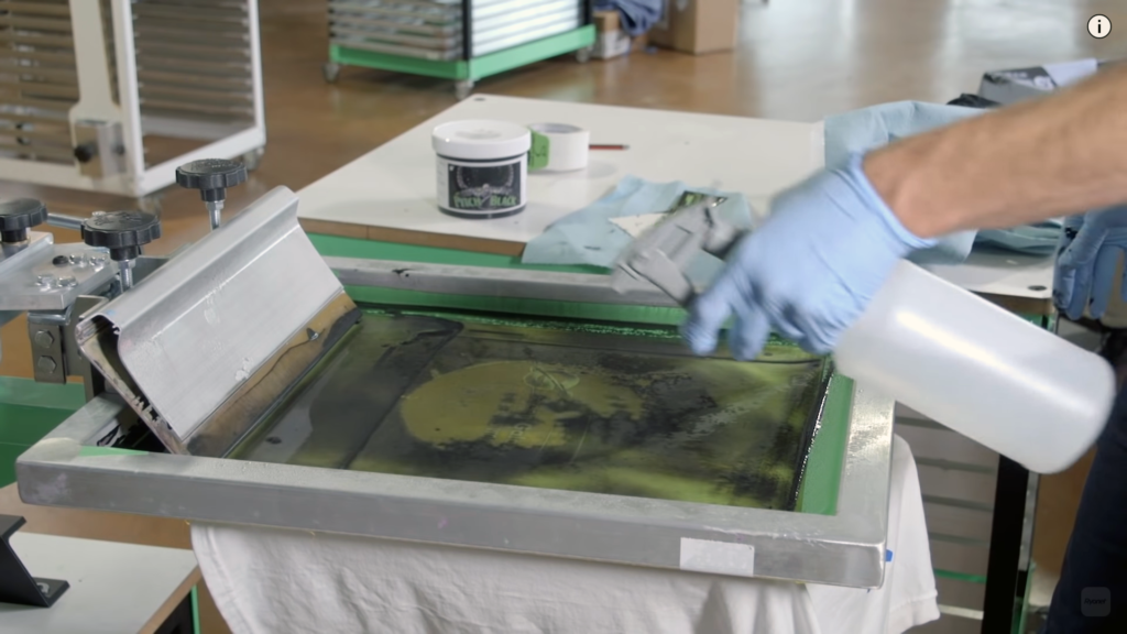 chemical agents used in silkscreening cleaning