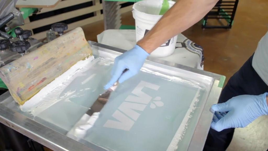 Clean Screen Printing Screens